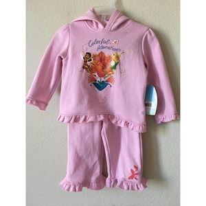 Disney Tinkerbell Rosetta Flower Hoodie Pants Set